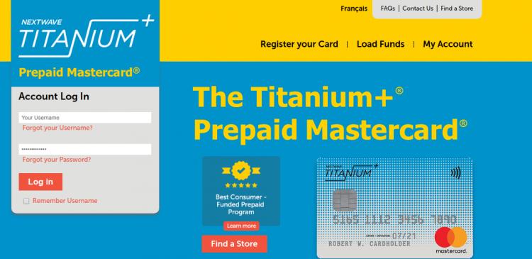 Titanium+ Prepaid Card Logo