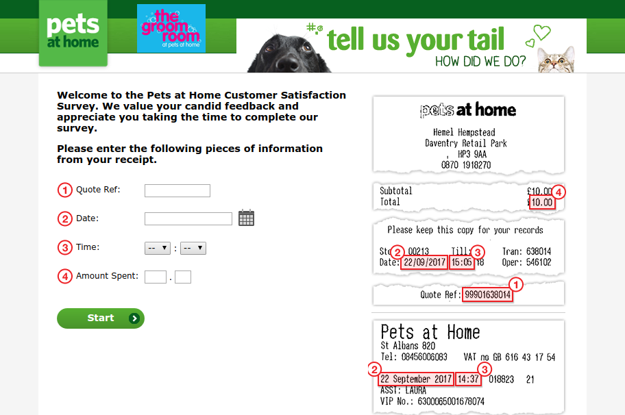 Home Tell Us Your Tail Survey
