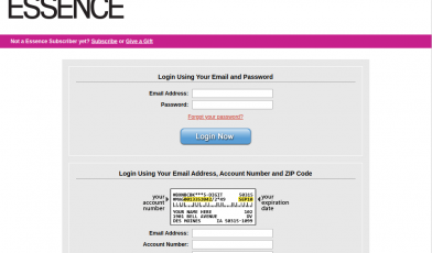 Essence Customer Service Login