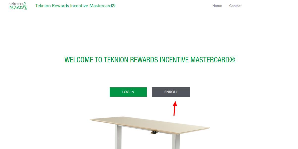Teknion Rewards Incentive Mastercard Enroll