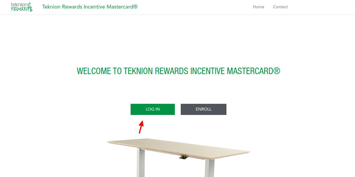 Teknion Rewards Incentive Mastercard Login