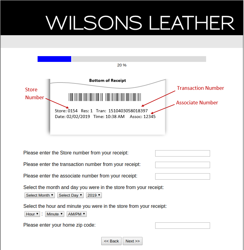 Wilsons Leather Survey