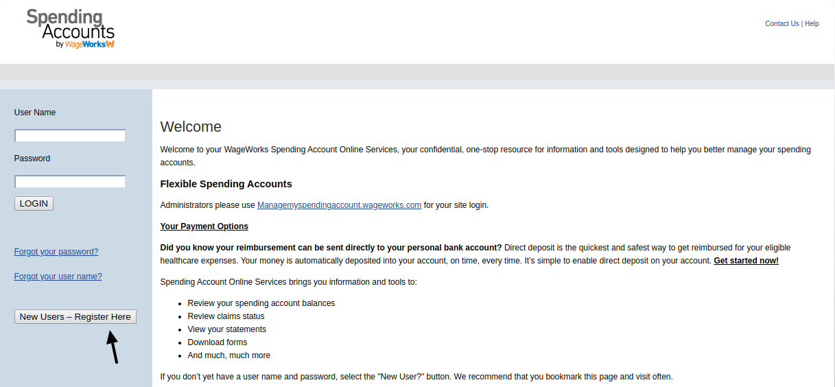 Spending Accounts Register