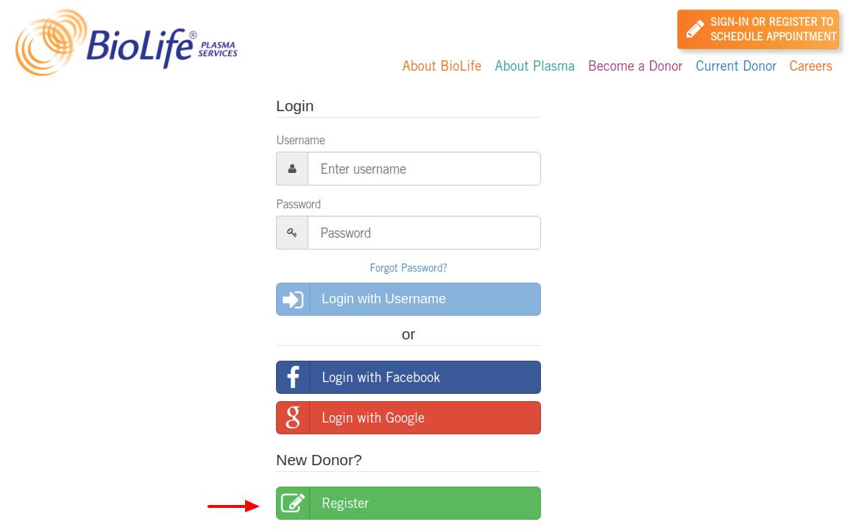 BioLife Plasma Services Register