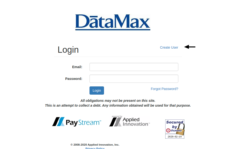 PayStream Create Account