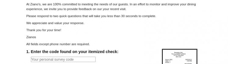 Zianos Survey