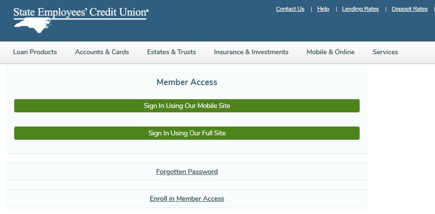 SECU Member Access Sign In
