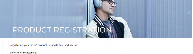 Bose Product Registration