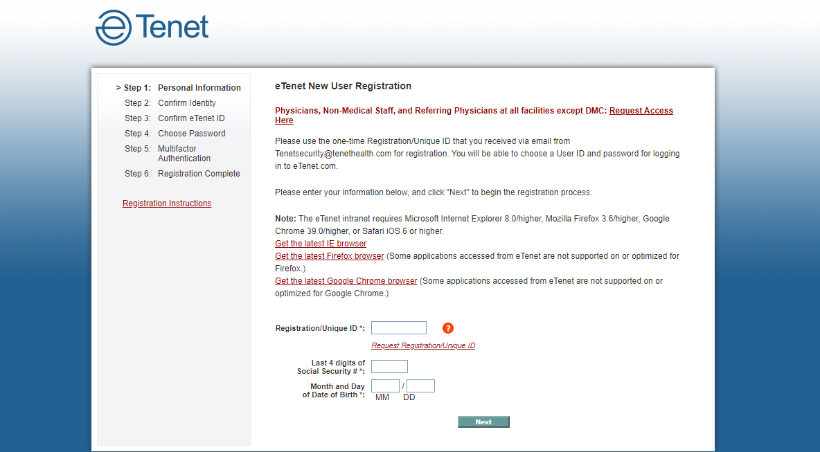 ETenet Employee Login Process