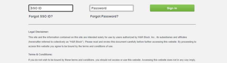 H&R Block Employee Portal login