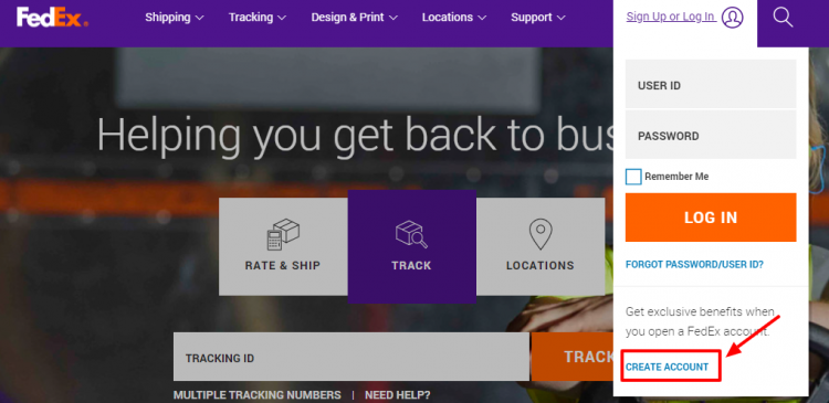How to Create an Account with FedEx