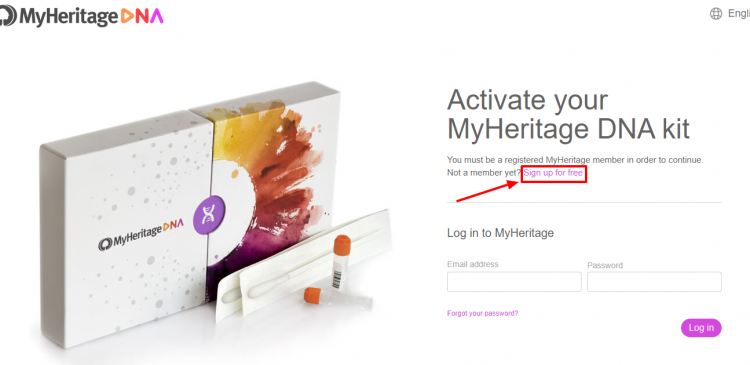 How to begin activation MyHeritage Kit