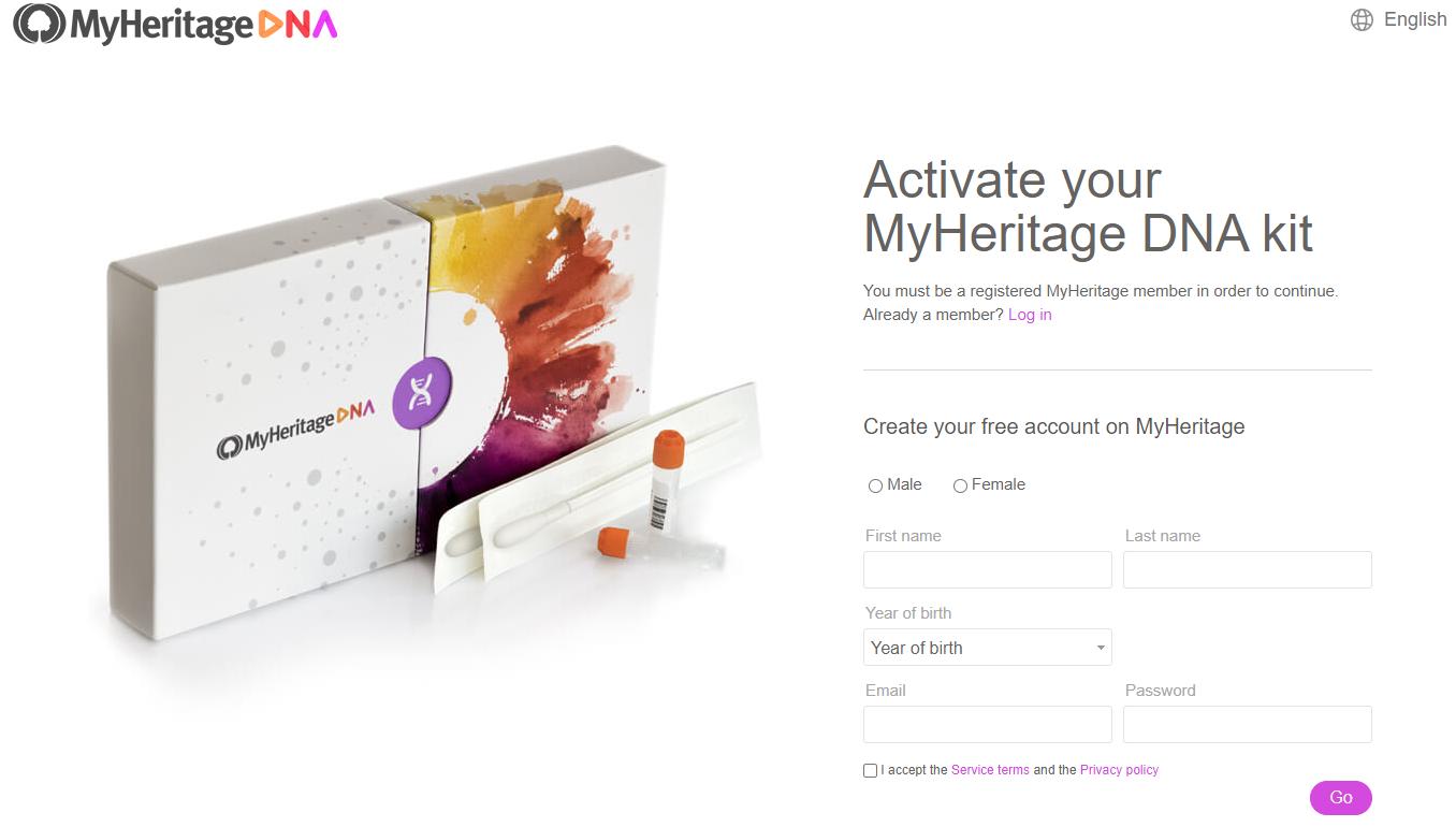 MyHeritage Kit activation