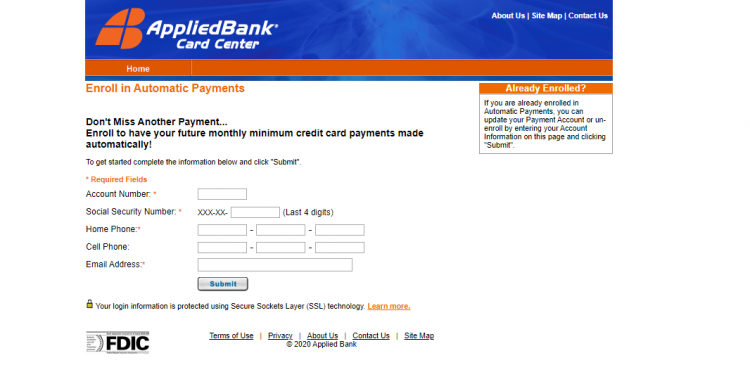 Set up Automatic Payments for Applied Bank Credit Cards