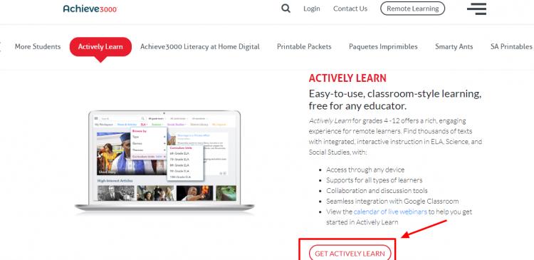 Student Premium Account of Achieve3000