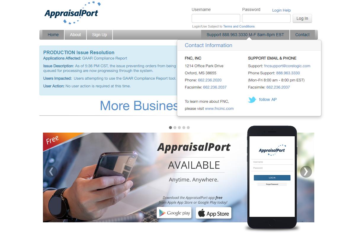 AppraisalPort Login Guide