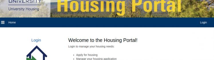 NAU housing Logo