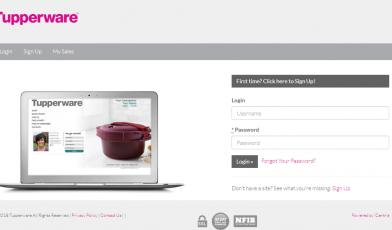 Log in to My Tupperware Account