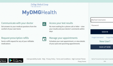 DMG MyChart Login