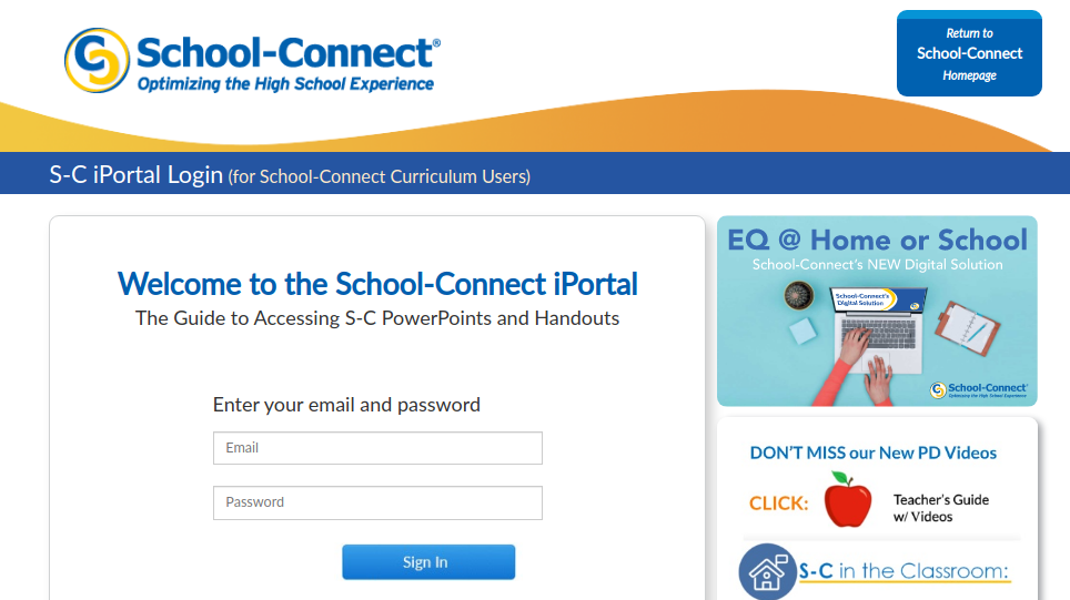 Iportal School Connect Login