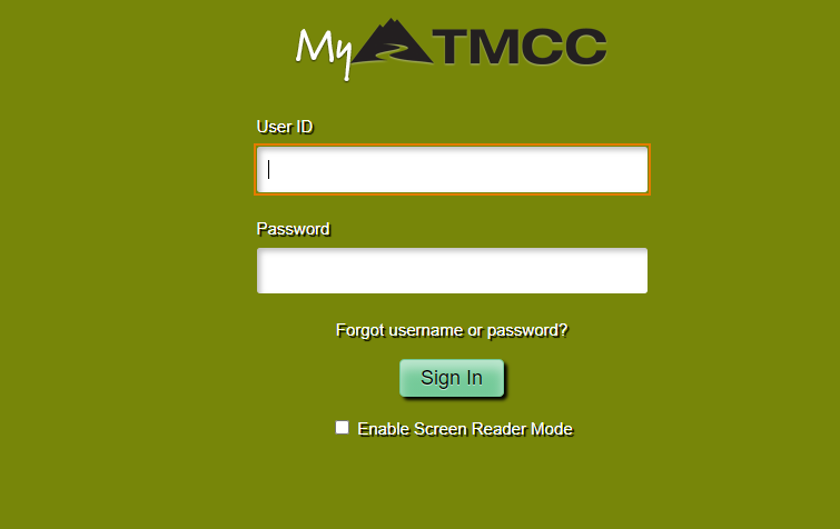 my tmcc login