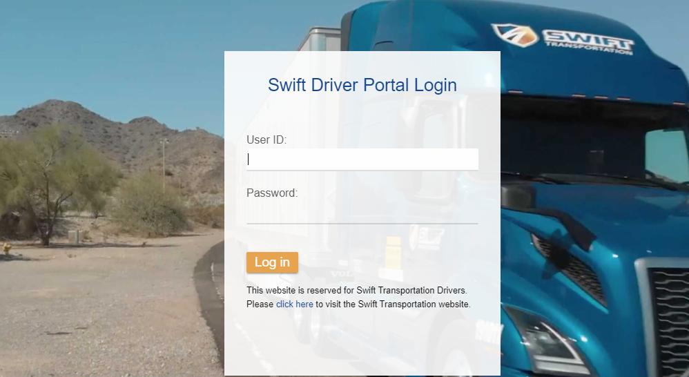 swift driver portal login