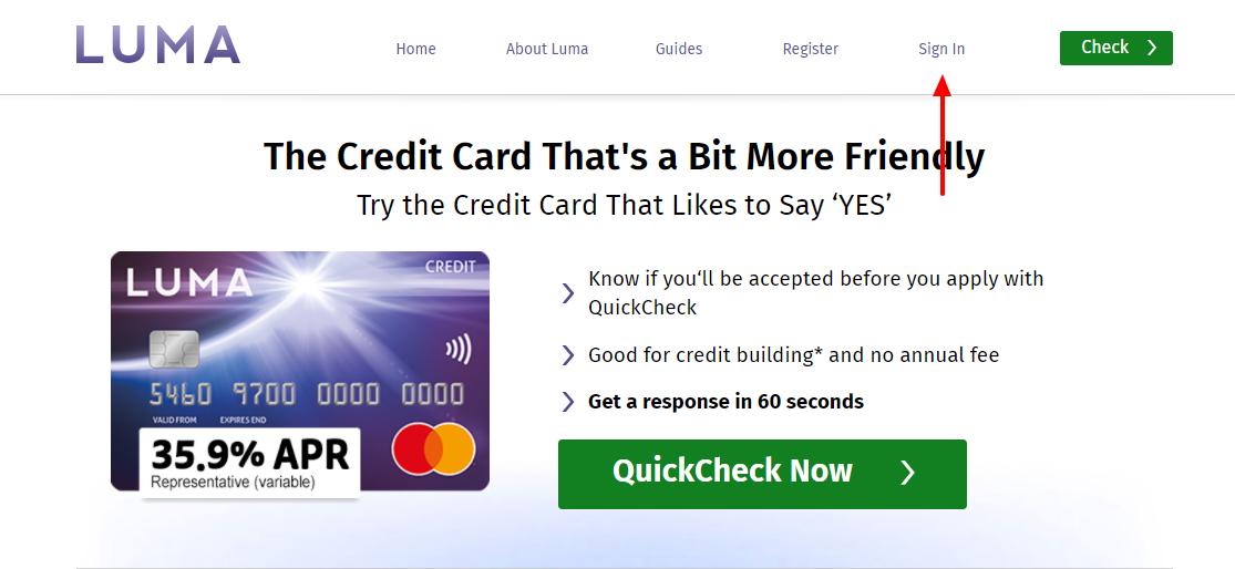 Luma Credit Card Activate