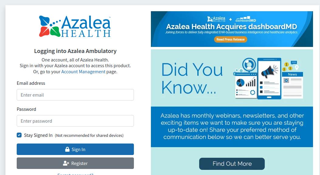 azalea health login