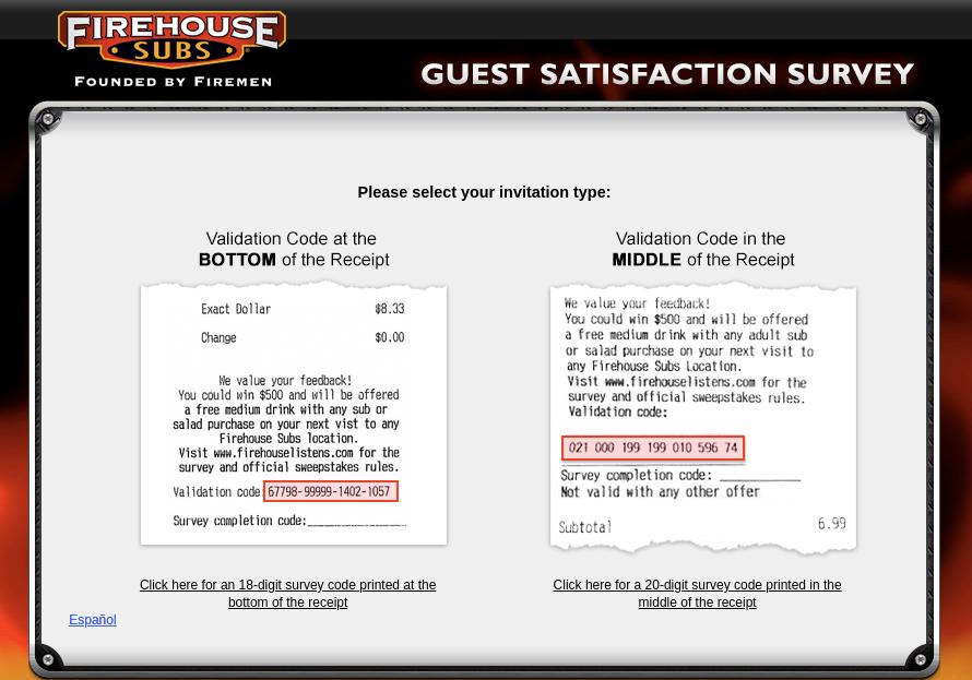 firehouse subs survey